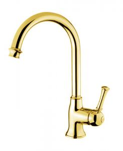 Kitchen mixer - Denver gooseneck brass