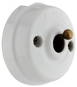 Dimmer Fontini - White porcelain/Antique bronze surface mounted