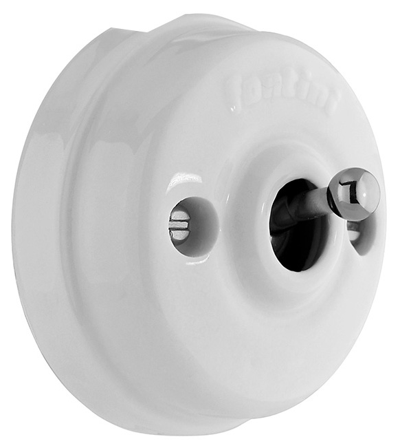 Dimmer Fontini - White porcelain/Chrome surface mounted