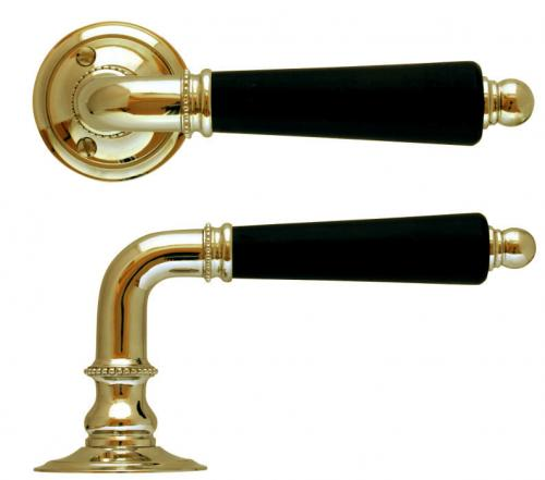 Door handle - Ebenholts brass