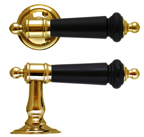 Door handle - Otto Meyerr no. 9 Brass - classic interior - retro - vintage interior