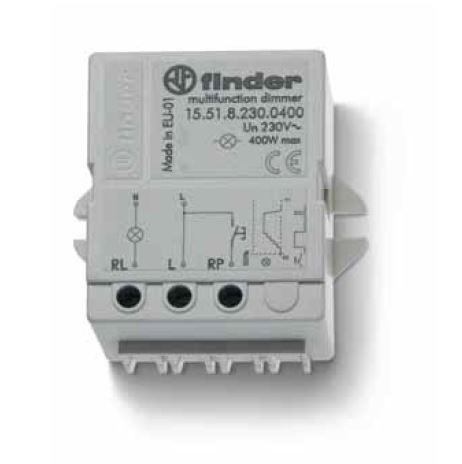 Dimmer - Electronic step relay - Finder 10-400W