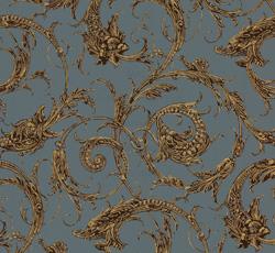 Wallpaper - Dragon blue/brown/gold