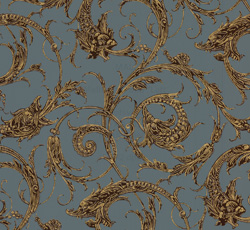 Wallpaper - Dragon blue/brown/gold