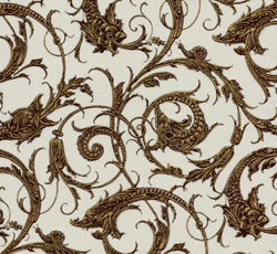 Wallpaper - Dragon grey/brown
