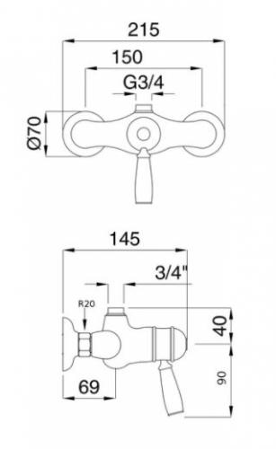 Shower Valve - Denver with thermostat