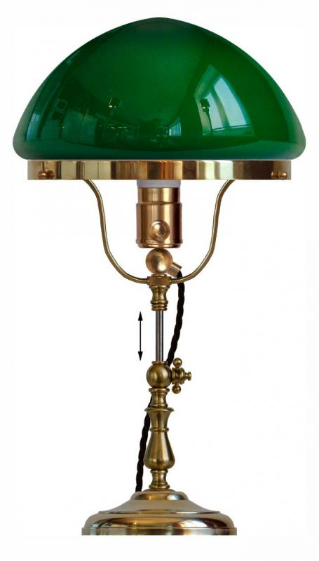 Table lamp - Fahlcrantz brass with green glass