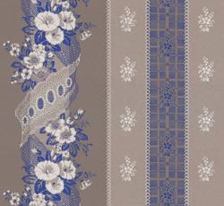 Wallpaper - Felicie Eleonore grey/ultramarine