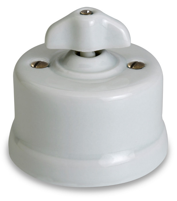 Fontini intermediate switch - White porcelain surface mounted