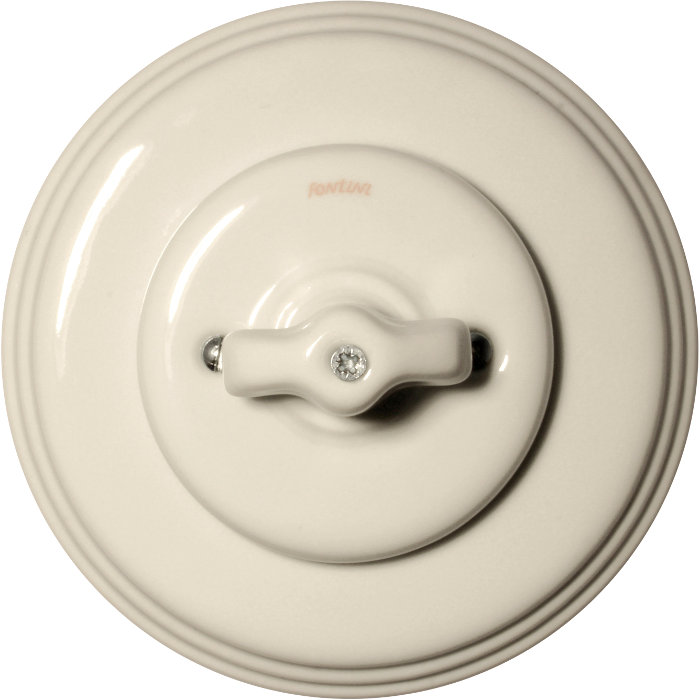 Rotary double switch white porcelain - Fontini - Classic Style
