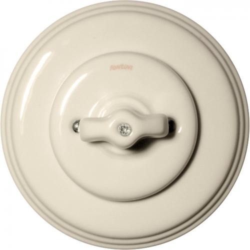 Fontini rotary switch - White porcelain