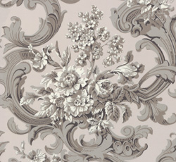 Wallpaper - French bouquet grey/pink