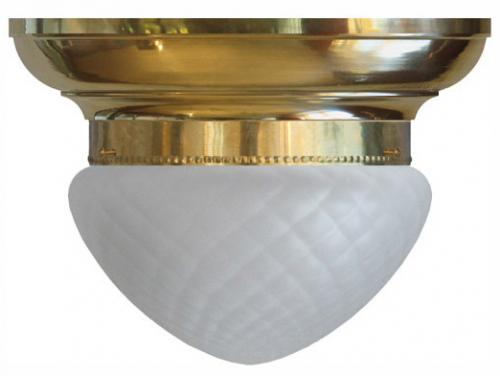 Bowl Lamp - Fröding 200 diamond patterned glass