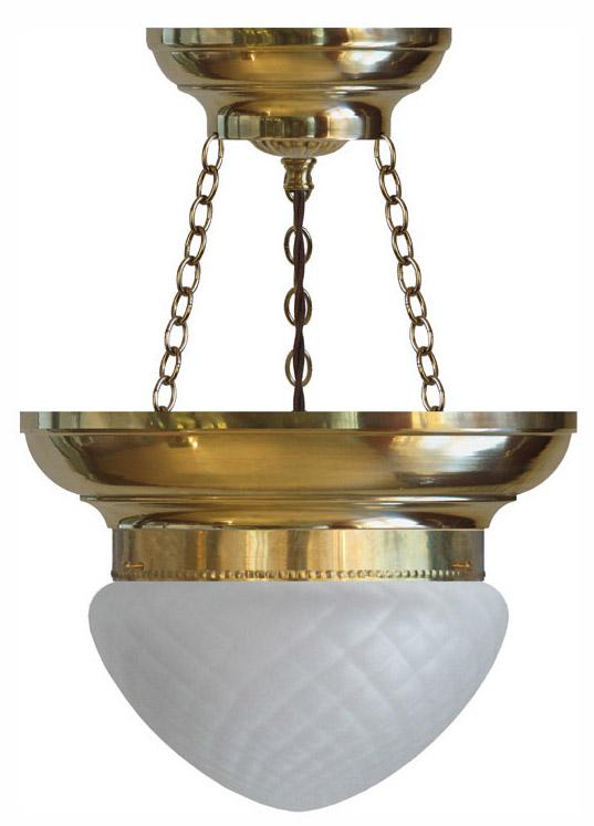 Bowl Lamp - Fröding 200 diamond patterned glass