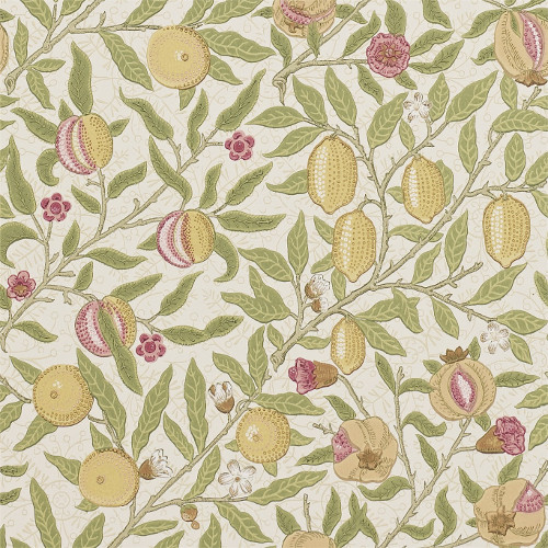 William Morris & Co. Tapet - Fruit Limeston/Artichoke - gammaldags inredning - retro - klassisk stil