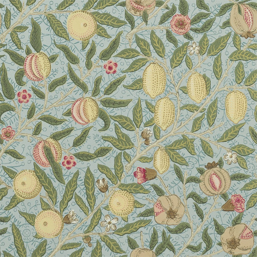 William Morris & Co. Wallpaper - Fruit Slate/Thyme - old fashioned style - retro - classic interior