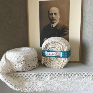 Shelf Edging - White cotton 4.5 cm