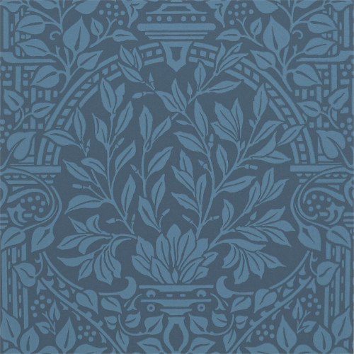 William Morris & Co. Tapet - Garden Craft Ink - sekelskifte - gammal stil - gammaldags inredning