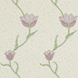 William Morris & Co. Wallpaper - Garden Tulip Artichoke/Heather
