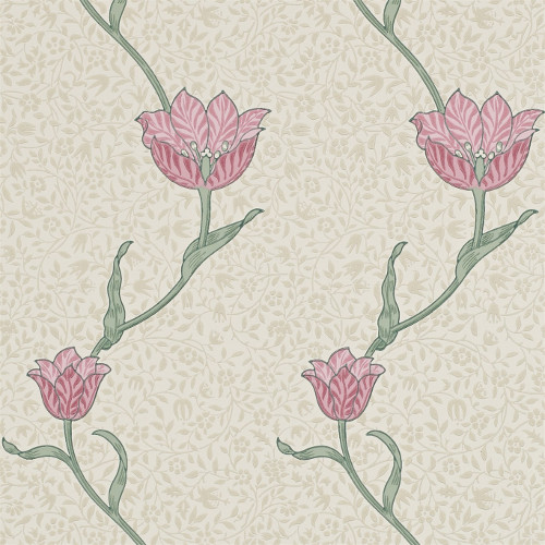 William Morris & Co. Wallpaper - Garden Tulip Rose/Thyme