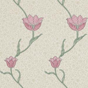 William Morris & Co. Wallpaper - Garden Tulip Rose/Thyme