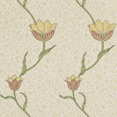 William Morris & Co. Wallpaper - Garden Tulip Russet/Lichen