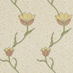 William Morris & Co. Wallpaper - Garden Tulip Russet/Lichen