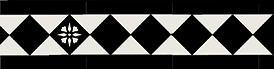 Klinkerfris - Glasgow II svart/vit