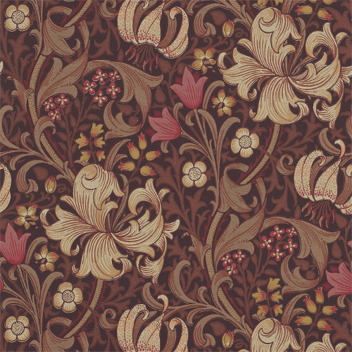 William Morris & Co. Tapet - Golden Lily Fig/Burnt - klassisk inredning - retro - sekelskiftesstil