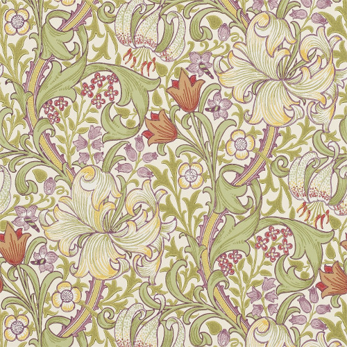 William Morris & Co. Tapet - Golden Lily Olive/Russet - klassisk inredning - retro - sekelskiftesstil