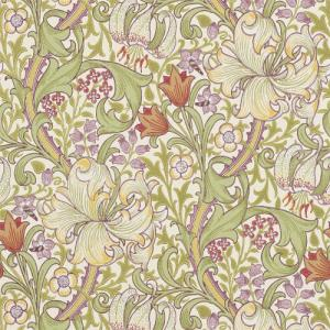 William Morris & Co. Wallpaper - Golden Lily Olive/Russet