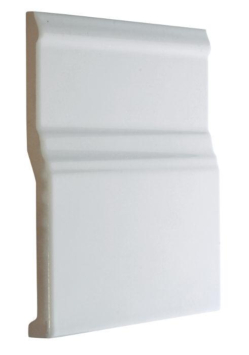 Tile Victoria Floor Trim 15 X Cm White Glossy