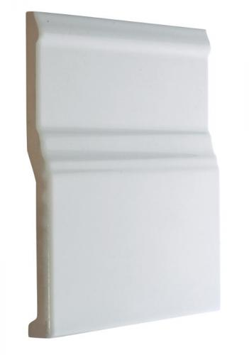 Tile Victoria - Floor trim 15 x 15 cm white, glossy
