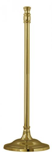 Freestanding roll reserve toilet paper holder - Brighton brass