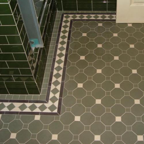 Inspiration - Winckelmans octagon floor tiles, green