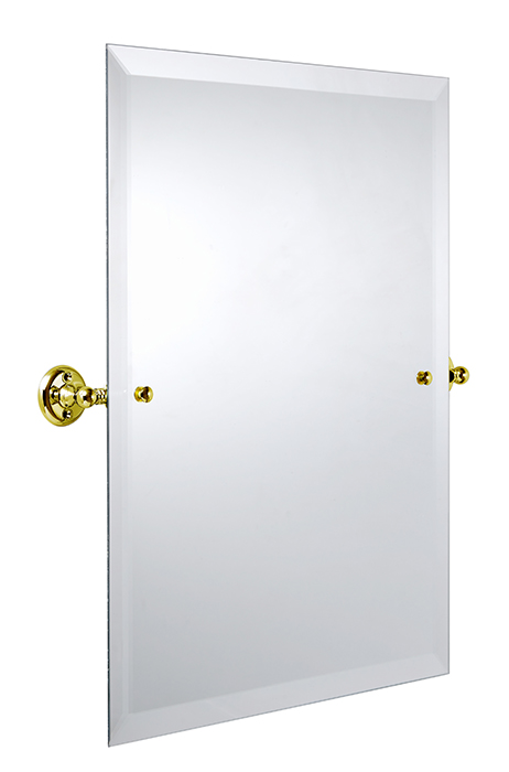 Bathroom Mirror - Burlington Rectangular - Brass 45 x 60 cm