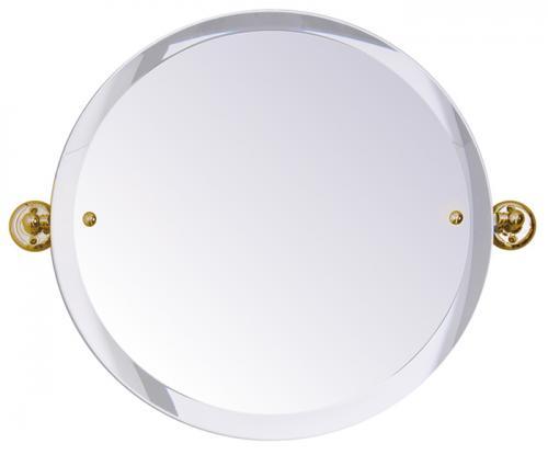 Bathroom Mirror - Haga round - Brass 45 cm - old style - vintage interior - retro - classic style