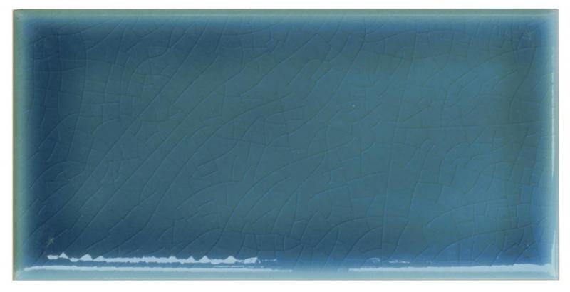 Kulörprov - Kakel Bristol - blå, krackelerat