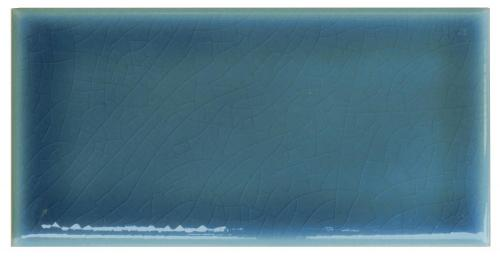 Wall tile Bristol - 7,5 x 15 cm blue, crackled