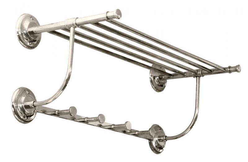 Towel shelf Brighton - Chrome - old fashioned style - vintage interior - retro - classic style