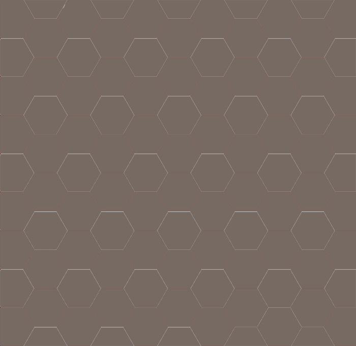 Hexagonklinker - 10x10 cm mörkgrå Winckelmans