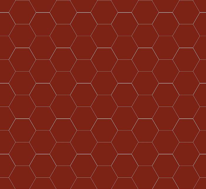 Hexagonklinker - 10x10 cm rött Winckelmans