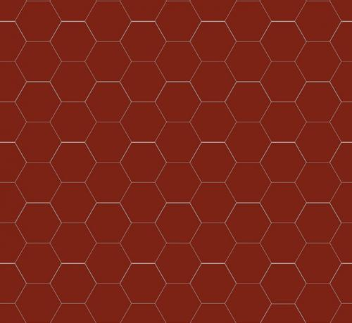 Floor tiles - Hexagon 10 x 10 cm red Winckelmans
