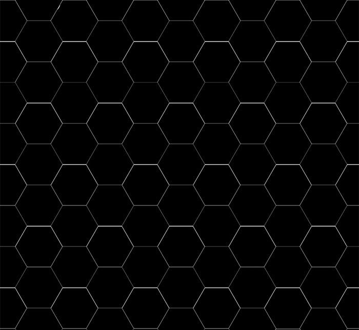 Floor tiles - Hexagon 10 x 10 cm black Winckelmans