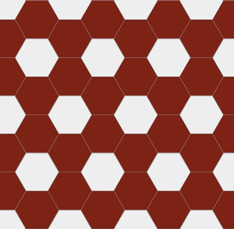 Floor Tiles Hexagon 15 X Cm Red White Winckelmans