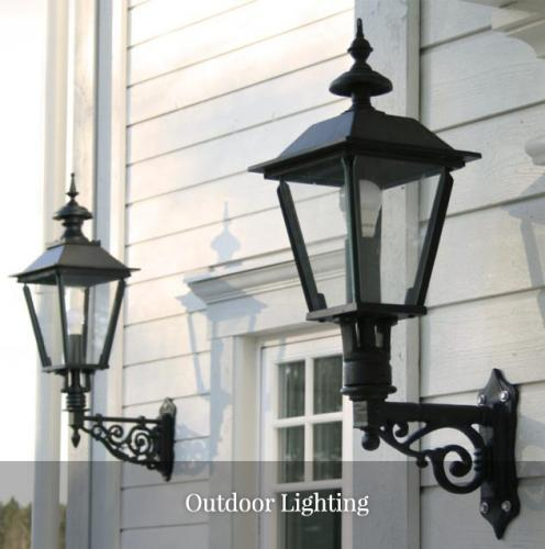 Outdoor lighting in timeless design and solid materials.