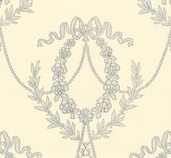 Wallpaper - Hovkonditoriet white/light blue