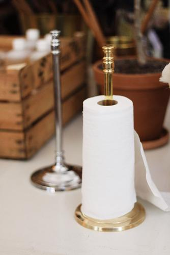 Kitchen paper roll holder - Brighton brass