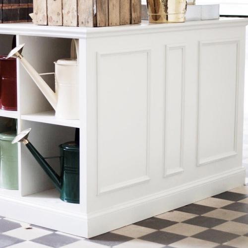 Gör om IKEA-hyllor till gammaldags hyllor