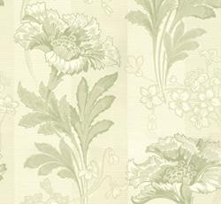 Wallpaper - Solviken white/green